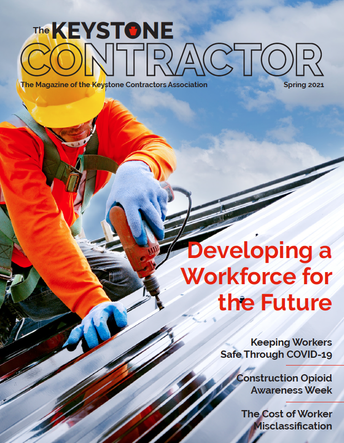 Keystone Contractor Magazine front cover Spring 2021